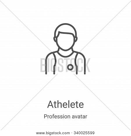 athelete icon isolated on white background from profession avatar collection. athelete icon trendy a