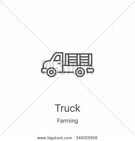 truck icon isolated on white background from farming collection. truck icon trendy and modern truck