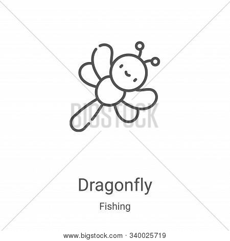 dragonfly icon isolated on white background from fishing collection. dragonfly icon trendy and moder