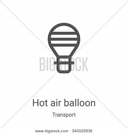 hot air balloon icon isolated on white background from transport collection. hot air balloon icon tr