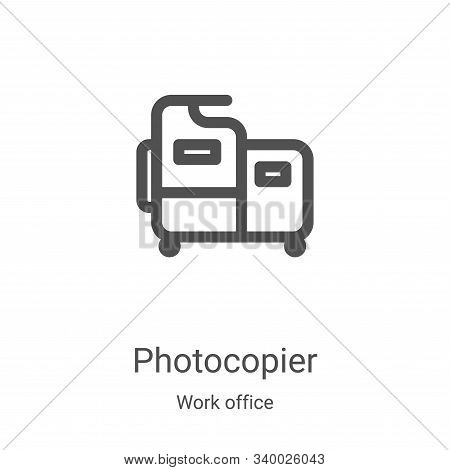 photocopier icon isolated on white background from work office collection. photocopier icon trendy a