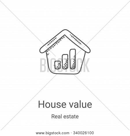 house value icon isolated on white background from real estate collection. house value icon trendy a