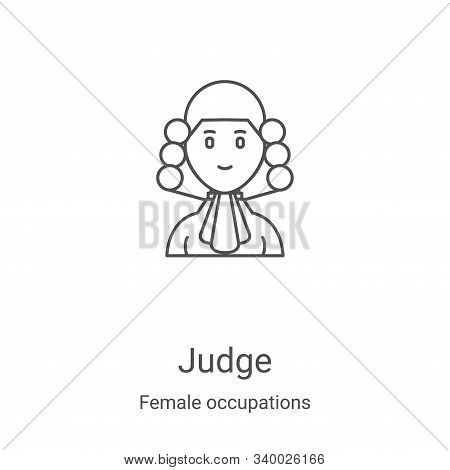 judge icon isolated on white background from female occupations collection. judge icon trendy and mo