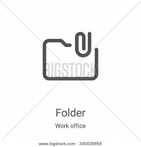 folder icon isolated on white background from work office collection. folder icon trendy and modern