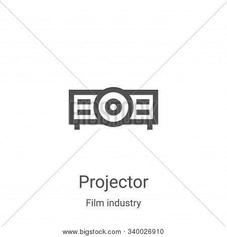 projector icon isolated on white background from film industry collection. projector icon trendy and