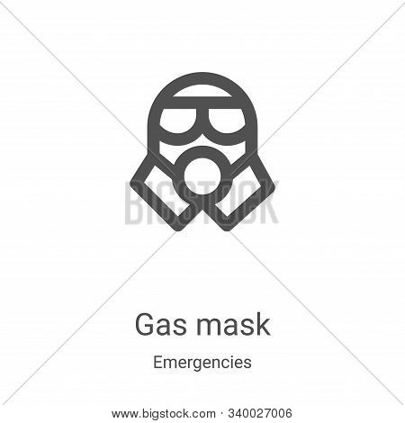 gas mask icon isolated on white background from emergencies collection. gas mask icon trendy and mod
