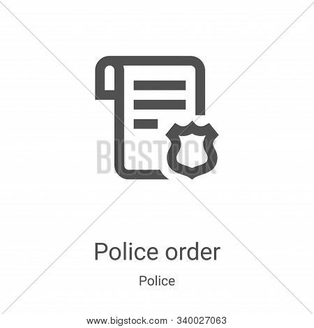 police order icon isolated on white background from police collection. police order icon trendy and