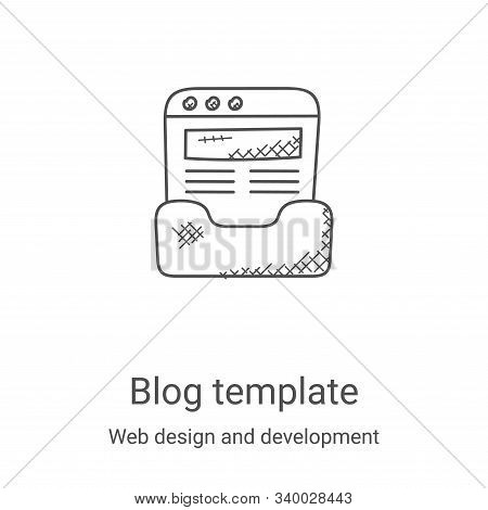 blog template icon isolated on white background from web design and development collection. blog tem