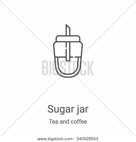 sugar jar icon isolated on white background from tea and coffee collection. sugar jar icon trendy an