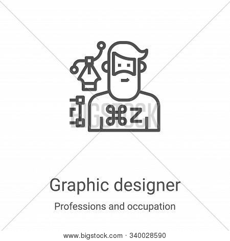 graphic designer icon isolated on white background from professions and occupation collection. graph