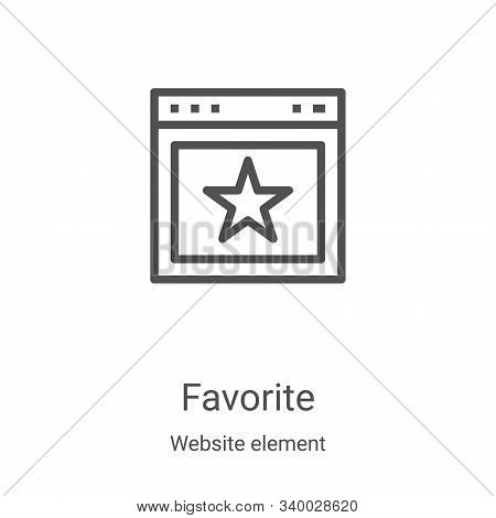 favorite icon isolated on white background from website element collection. favorite icon trendy and