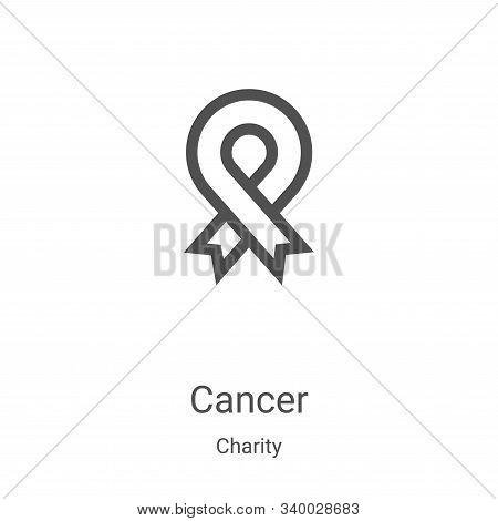 cancer icon isolated on white background from charity collection. cancer icon trendy and modern canc