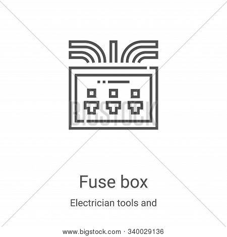 fuse box icon isolated on white background from electrician tools and elements collection. fuse box