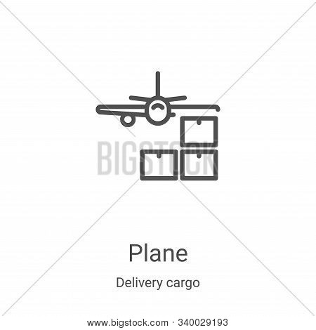 plane icon isolated on white background from delivery cargo collection. plane icon trendy and modern