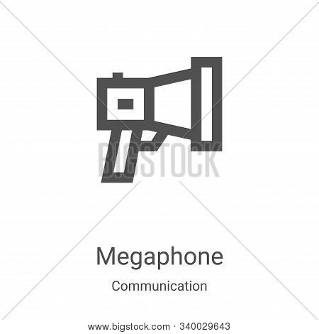 megaphone icon isolated on white background from communication collection. megaphone icon trendy and