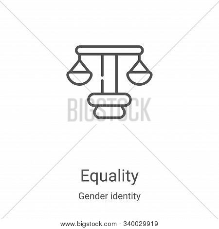 equality icon isolated on white background from gender identity collection. equality icon trendy and