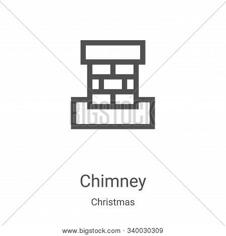 chimney icon isolated on white background from christmas collection. chimney icon trendy and modern