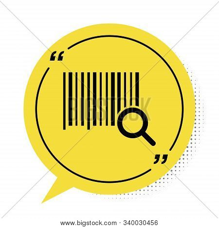 Black Search Barcode Icon Isolated On White Background. Magnifying Glass Searching Barcode. Barcode