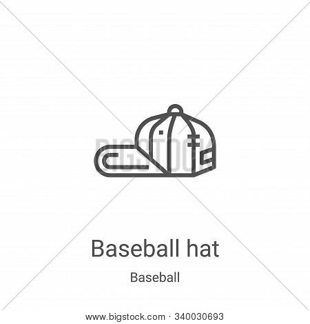 baseball hat icon isolated on white background from baseball collection. baseball hat icon trendy an