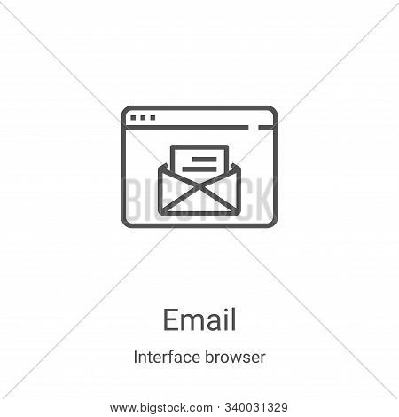 email icon isolated on white background from interface browser collection. email icon trendy and mod