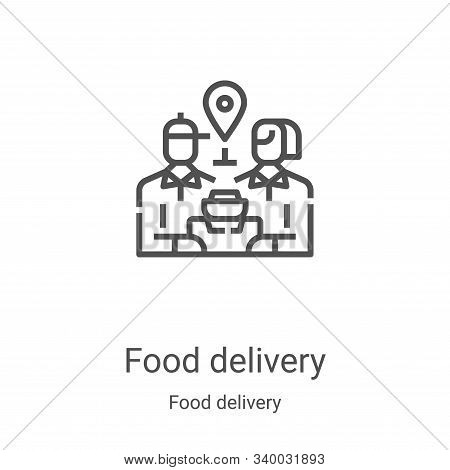 food delivery icon isolated on white background from food delivery collection. food delivery icon tr