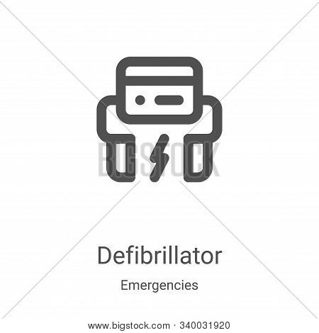 defibrillator icon isolated on white background from emergencies collection. defibrillator icon tren