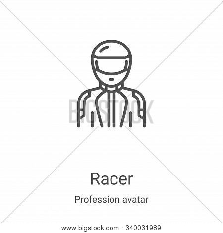 racer icon isolated on white background from profession avatar collection. racer icon trendy and mod