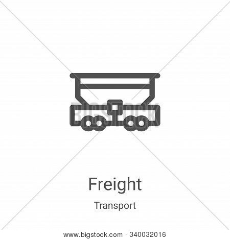 freight icon isolated on white background from transport collection. freight icon trendy and modern