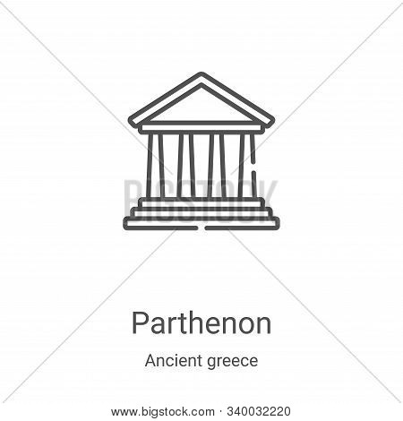 parthenon icon isolated on white background from ancient greece collection. parthenon icon trendy an