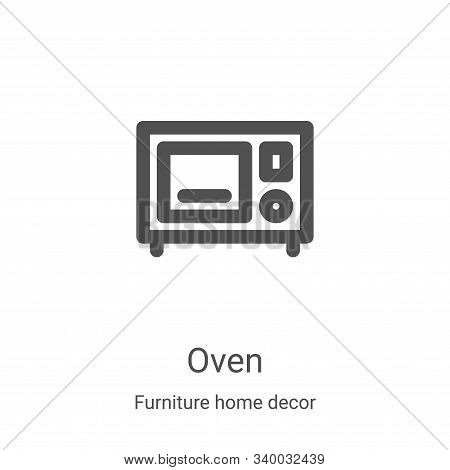 oven icon isolated on white background from furniture home decor collection. oven icon trendy and mo