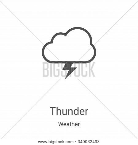 thunder icon isolated on white background from weather collection. thunder icon trendy and modern th