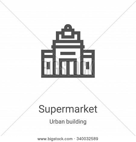 supermarket icon isolated on white background from urban building collection. supermarket icon trend