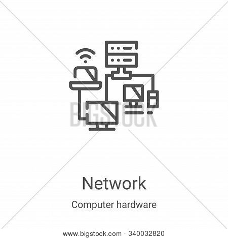 network icon isolated on white background from computer hardware collection. network icon trendy and