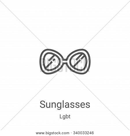 sunglasses icon isolated on white background from lgbt collection. sunglasses icon trendy and modern
