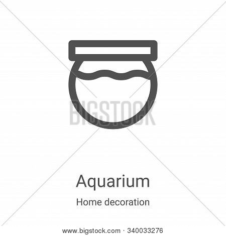 aquarium icon isolated on white background from home decoration collection. aquarium icon trendy and