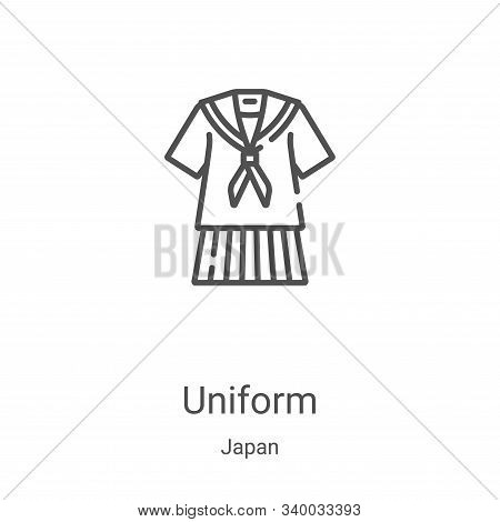 uniform icon isolated on white background from japan collection. uniform icon trendy and modern unif