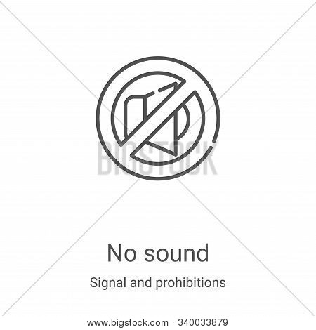 no sound icon isolated on white background from signal and prohibitions collection. no sound icon tr
