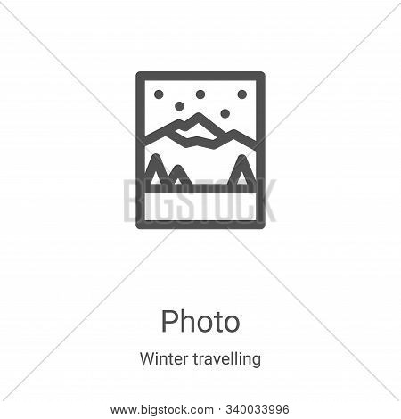 photo icon isolated on white background from winter travelling collection. photo icon trendy and mod