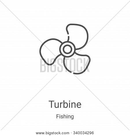 turbine icon isolated on white background from fishing collection. turbine icon trendy and modern tu