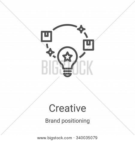 creative icon isolated on white background from brand positioning collection. creative icon trendy a