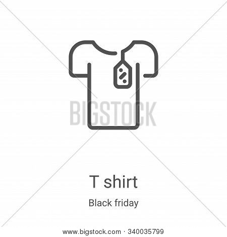 t shirt icon isolated on white background from black friday collection. t shirt icon trendy and mode