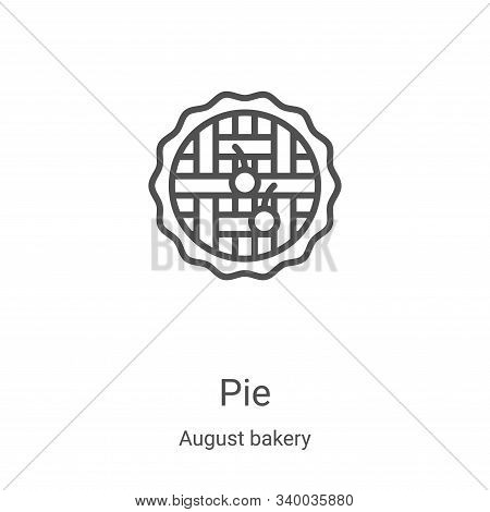 pie icon isolated on white background from august bakery collection. pie icon trendy and modern pie