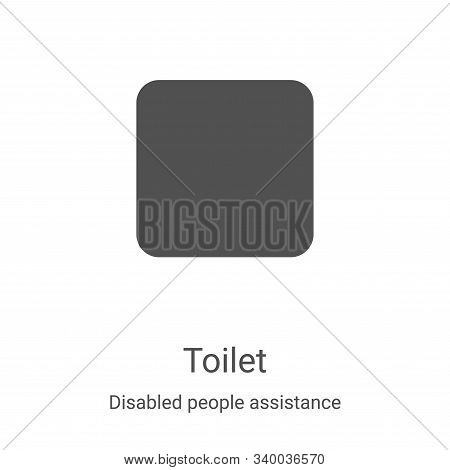 toilet icon isolated on white background from disabled people assistance collection. toilet icon tre