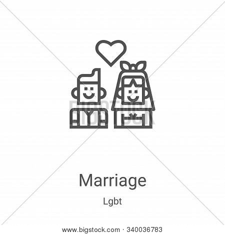 marriage icon isolated on white background from lgbt collection. marriage icon trendy and modern mar