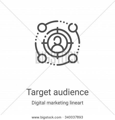 target audience icon isolated on white background from digital marketing lineart collection. target