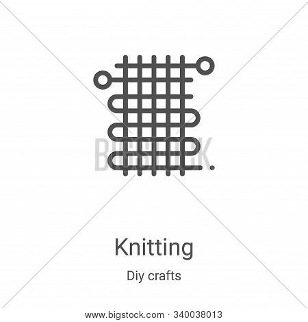 knitting icon isolated on white background from diy crafts collection. knitting icon trendy and mode