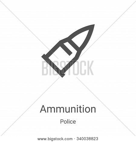 ammunition icon isolated on white background from police collection. ammunition icon trendy and mode