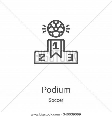 podium icon isolated on white background from soccer collection. podium icon trendy and modern podiu