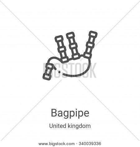 bagpipe icon isolated on white background from united kingdom collection. bagpipe icon trendy and mo