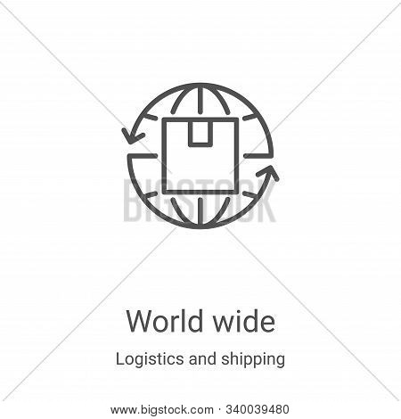 world wide icon isolated on white background from logistics and shipping collection. world wide icon